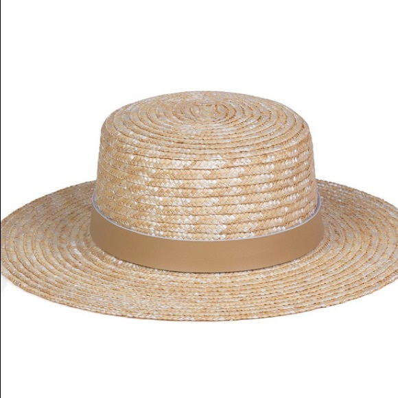 Lack of Color Women/'s Spencer Leather Banded Straw Boater Sun Hat